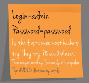 website security hacker password tip